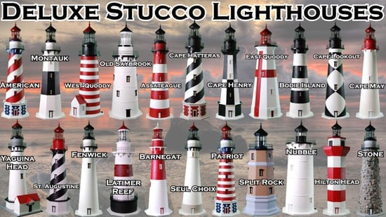 Lawn Lighthouses and Lighthouse Accessories