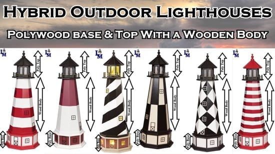 Hybrid Yard Lighthouses - for Lawn or Garden