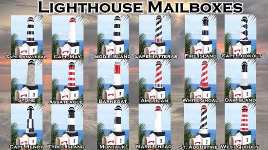 Lighthouse Mailboxes
