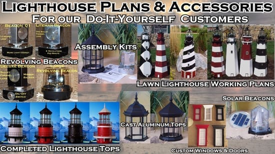 Lawn Lighthouses and Lighthouse Accessories, Plans and Accessories