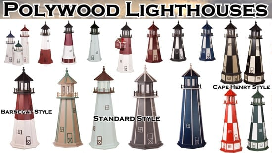 Polywood Lawn Lighthouses - for Yard or Garden
