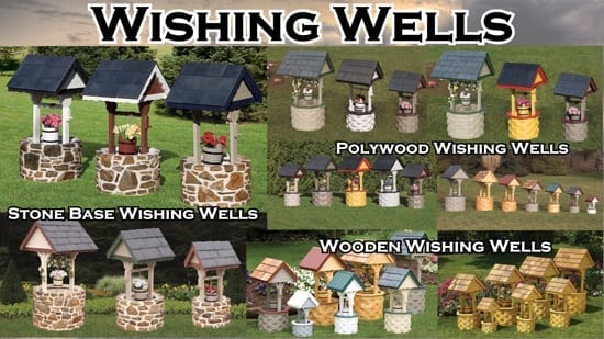 Lawn Lighthouses and Lighthouse Accessories, Wishing Wells