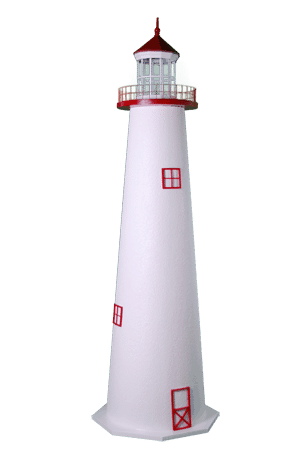 cape hatteras painted wooden garden lighthouses - Amish Lighthouse Plans
