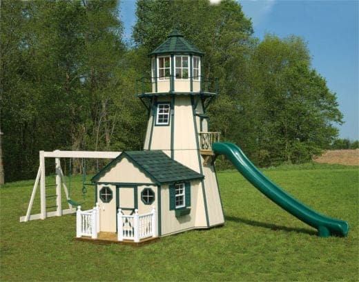 Lighthouse storage sheds and playhouses for Playhouse sheds