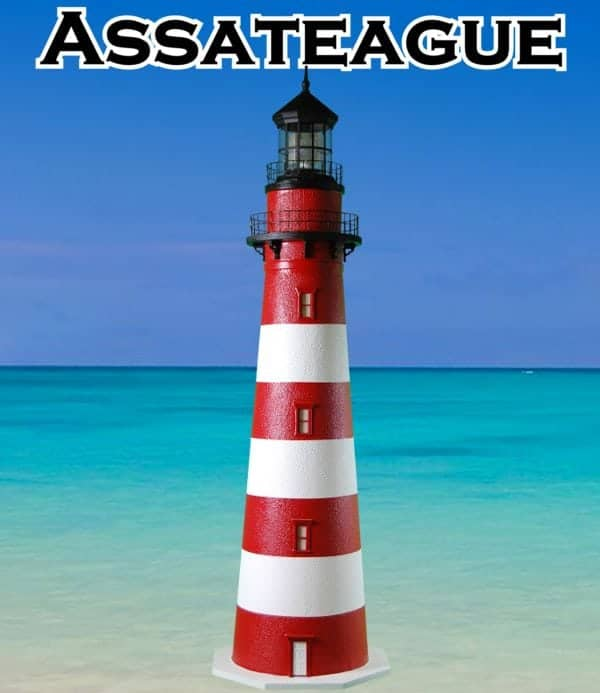 Assateague Deluxe Stucco Lawn Lighthouses