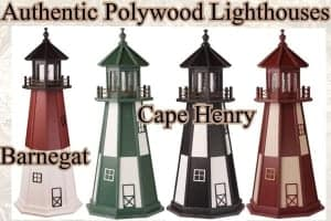 Authentic Polywood Lawn Lighthouses