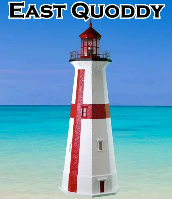East Quoddy Deluxe Stucco Lawn Lighthouses 2