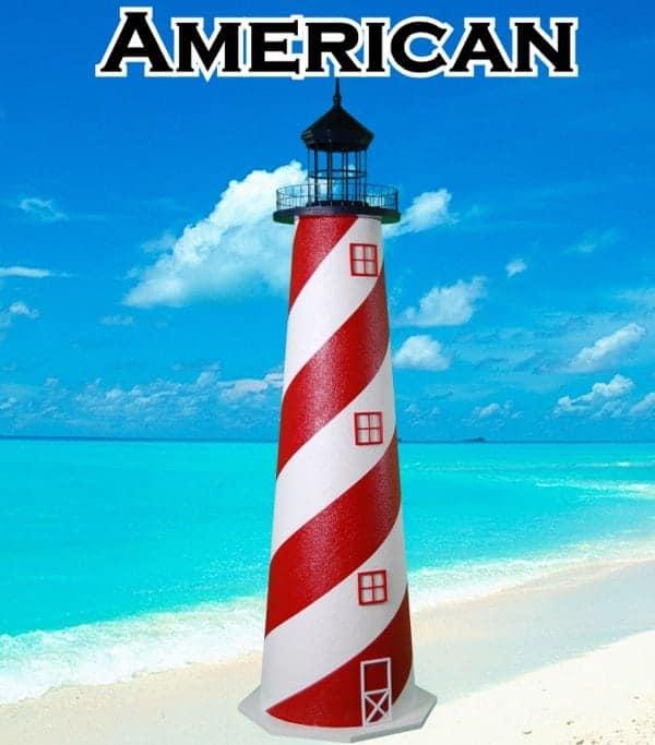 American E-Line Stucco Lawn Lighthouses 2