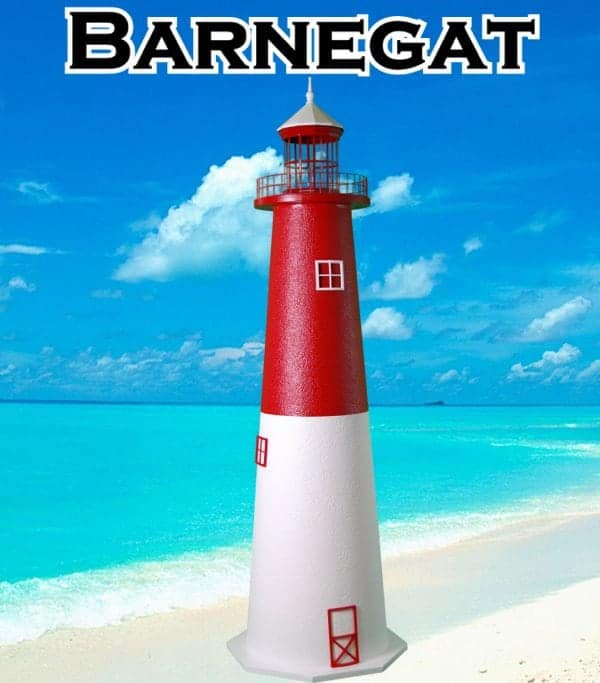 Barnegat E-Line Stucco Lawn Lighthouses