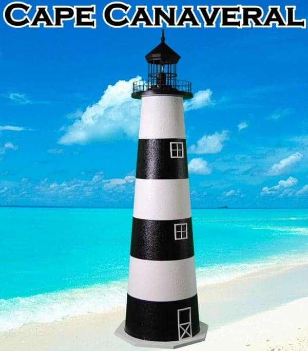 Cape Canaveral E-line Stucco Lighthouses for your Lawn