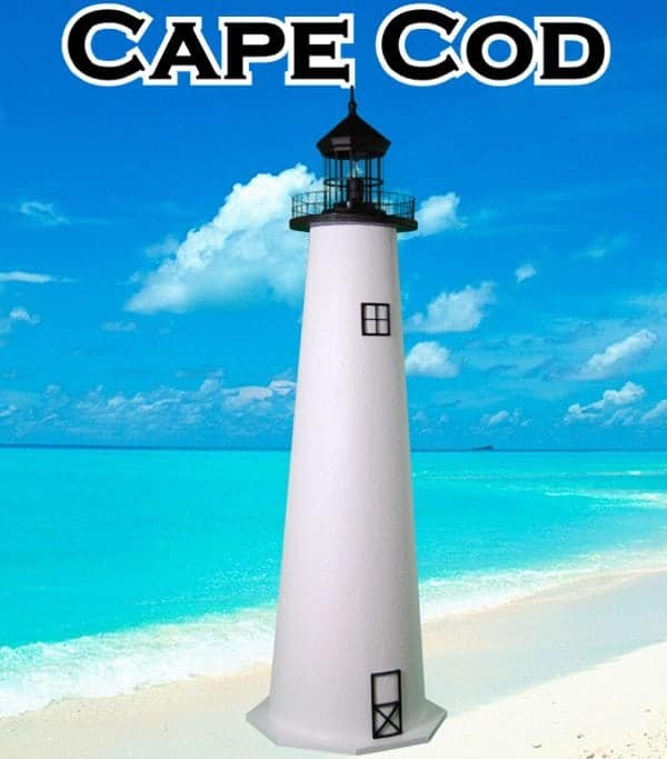 Cape CodE-Line Stucco Lawn Lighthouses 2
