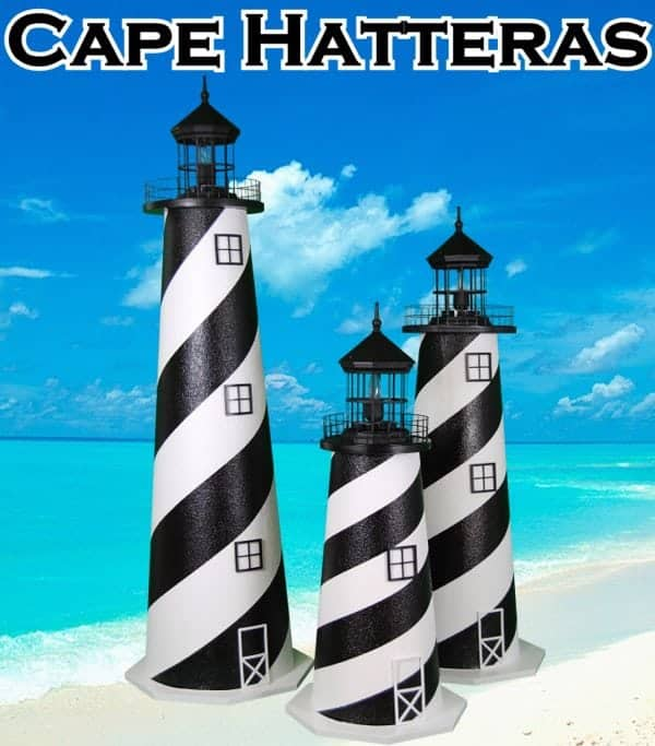 Cape Hatteras E-Line Stucco Lawn Lighthouses