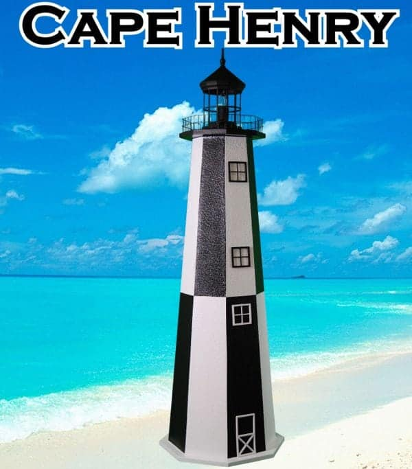 Cape Henry E-Line Stucco Lighthouses for your Lawn