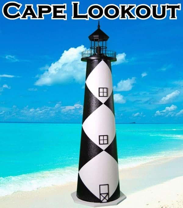 Cape Lookout E-Line Stucco Lawn Lighthouses