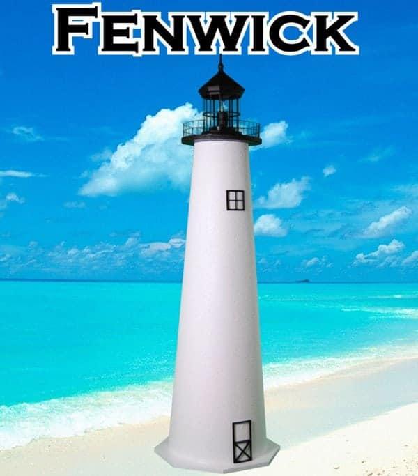 Fenwick Island E-Line Stucco Lawn Lighthouses