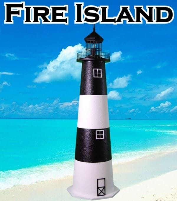 Fire Island E-Line Stucco Lawn Lighthouses 2