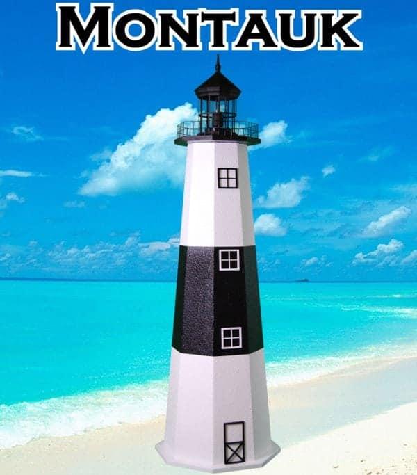 Montauk E-Line Stucco Lawn Lighthouses