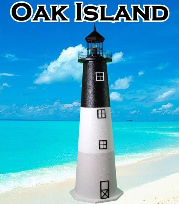 Oak Island E-Line Stucco Lawn Lighthouses 2