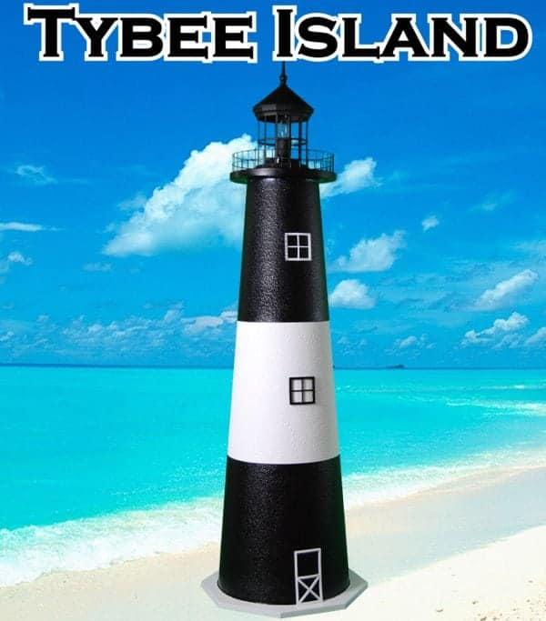 Tybee Island E-Line Stucco Lawn Lighthouses 2
