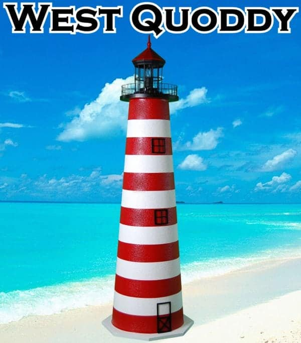 West Quoddy E-Line Stucco Lighthouses for your Lawn