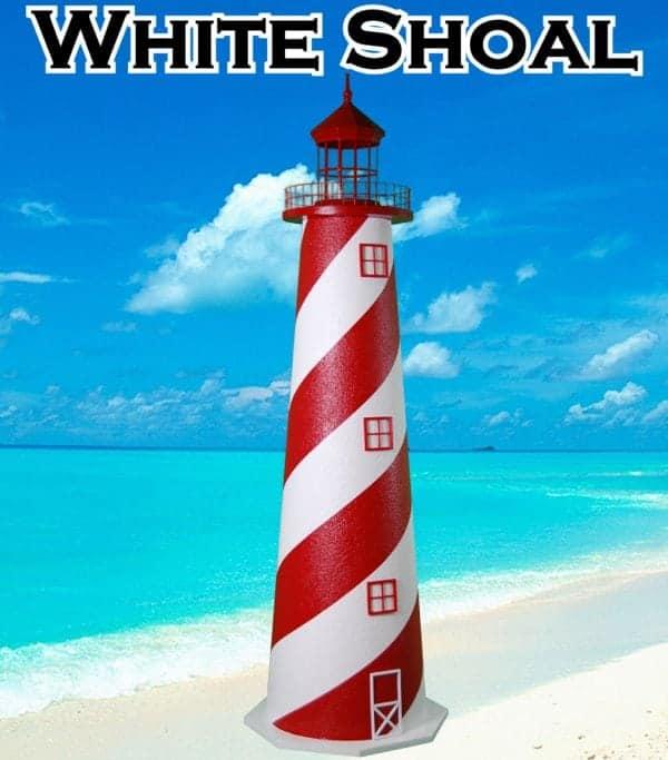 White Shoal E-Line Stucco Lawn Lighthouses