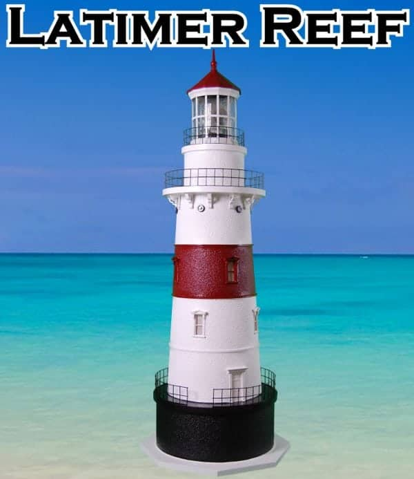 Latimer Reef Deluxe Stucco Yard and Garden Lighthouses