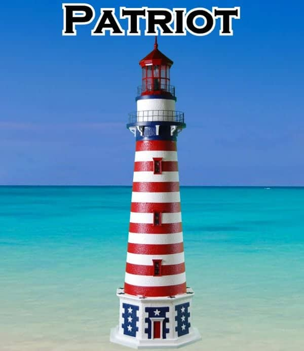 Patriot Deluxe Stucco Lawn Lighthouses 2