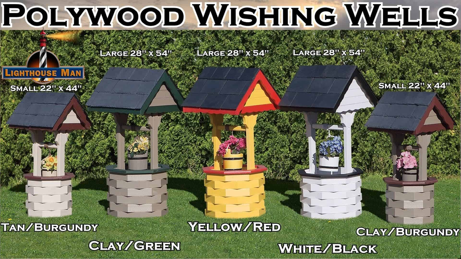 Decorative Ornamental Garden Wishing Wells - Polywood Wishing Wells