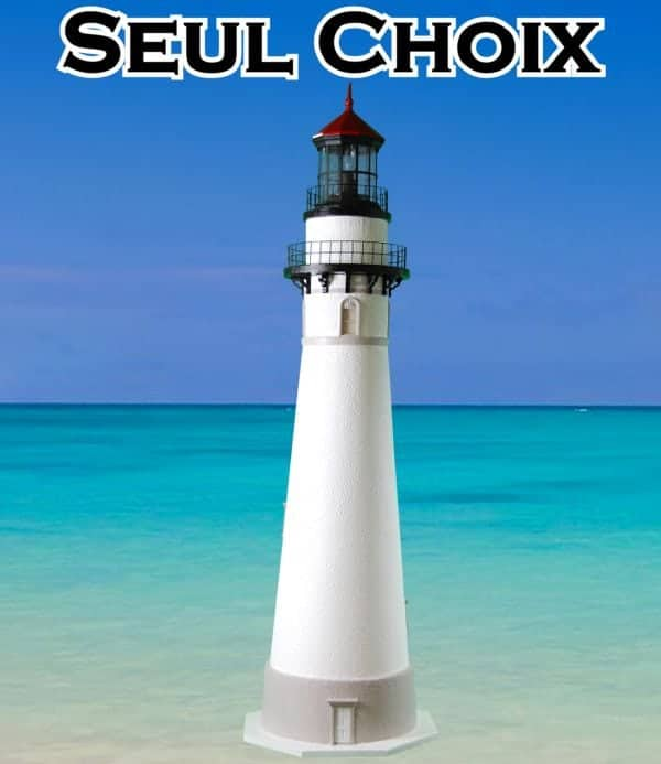 Seul Choix Deluxe Stucco Lawn Lighthouses