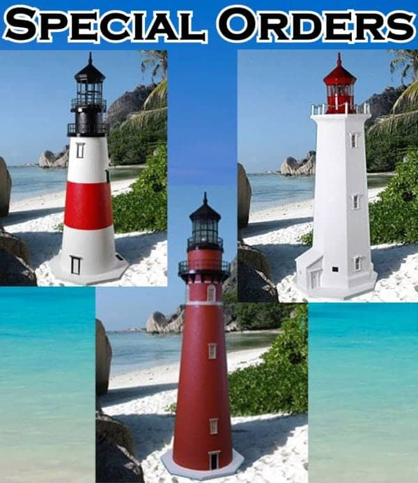 Special Order Deluxe Stucco Lawn Lighthouses 2