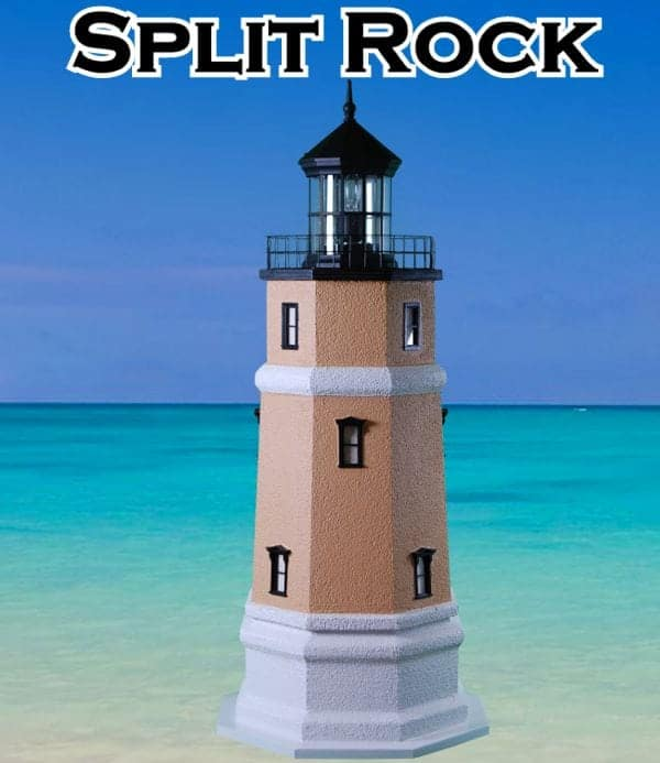 Split Rock Deluxe Stucco Yard and Garden Lighthouses