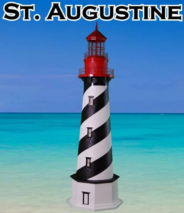 St. Augustine Deluxe Stucco Lawn Lighthouses