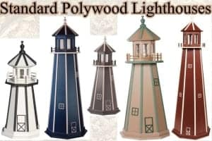 standard polywood lawn lighthouses