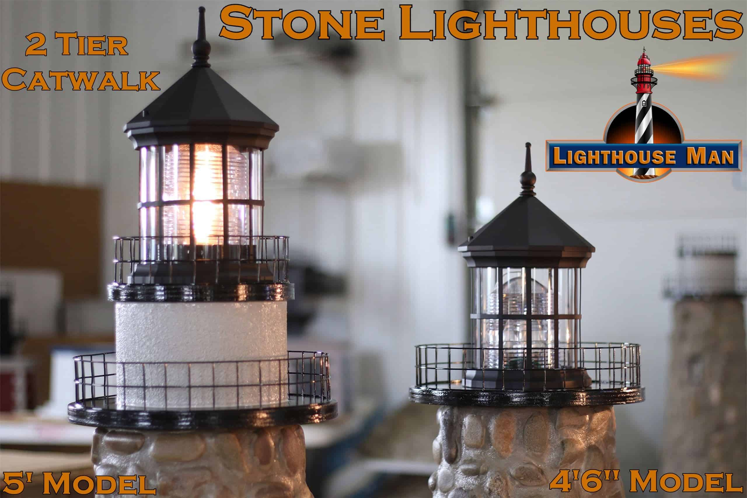 Stone Lawn Lighthouses