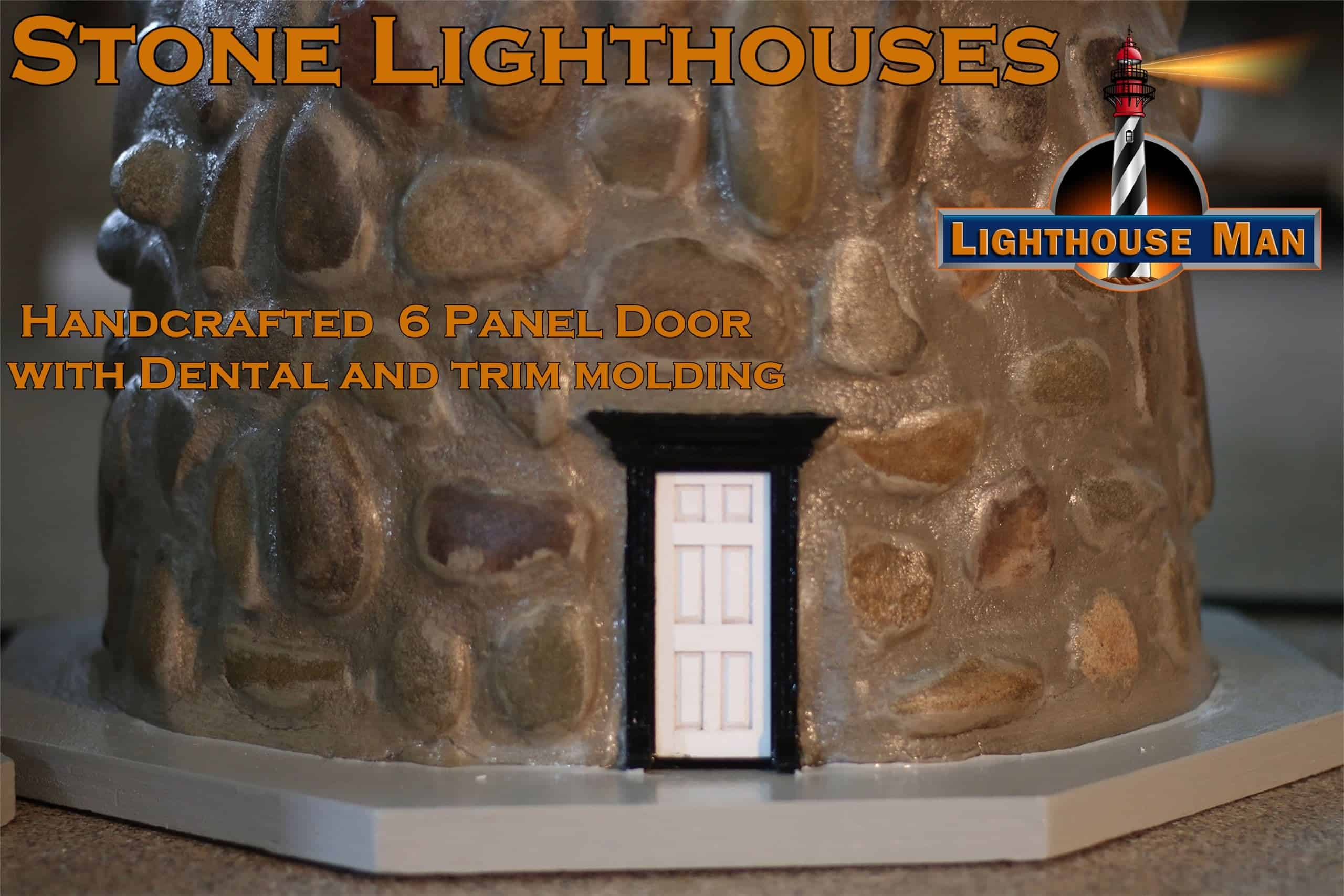 Stone Lawn Lighthouses Handcrafted Door