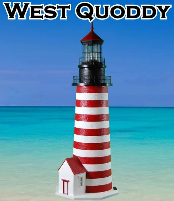 West Quoddy Deluxe Stucco Lawn Lighthouses 2