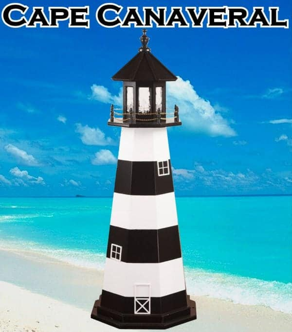 Cape Canaveral Wooden Lawn Lighthouses