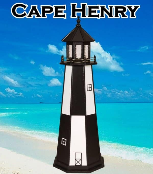 wooden lawn lighthouses cape henry - Amish Lighthouse Plans