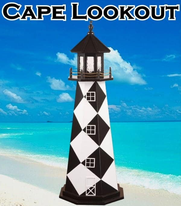Cape Lookout Wooden Lawn Lighthouses