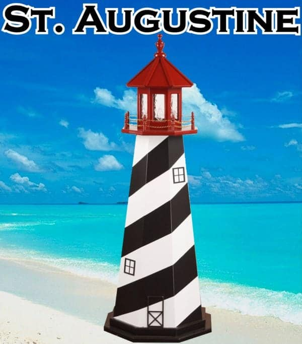 St. Augustine Wooden Lawn Lighthouses