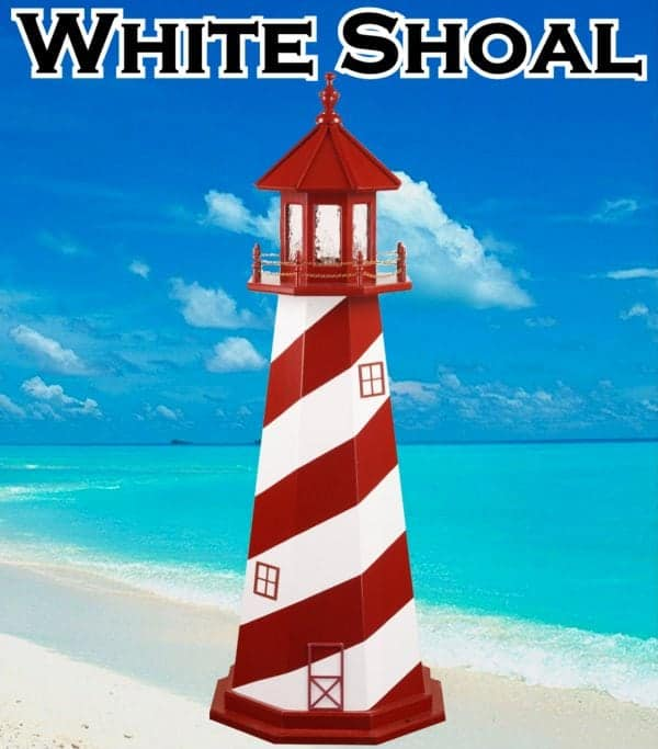 White Shoal Wooden Lawn Lighthouses