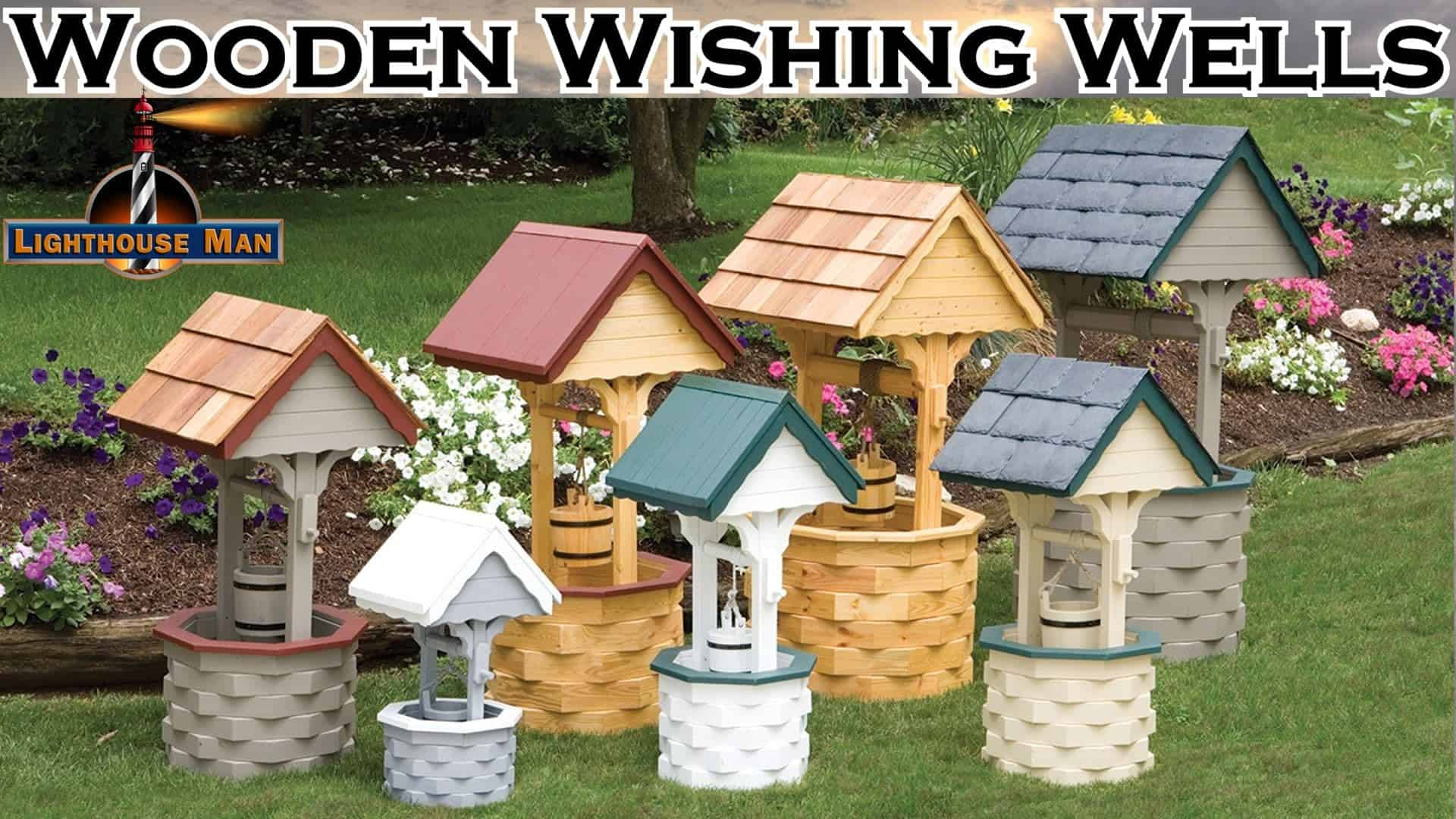Decorative Ornamental Garden Wishing Wells - Wooden Wishing Wells