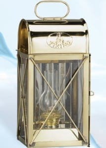 Nautical Lanterns Maritime Lights - Brass Box Lantern Electric or Oil BL-820