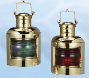 Nautical Lanterns Maritime Lights - Hight Quality Brass Port & Starboard Lanterns, Electric or Oil BL-835