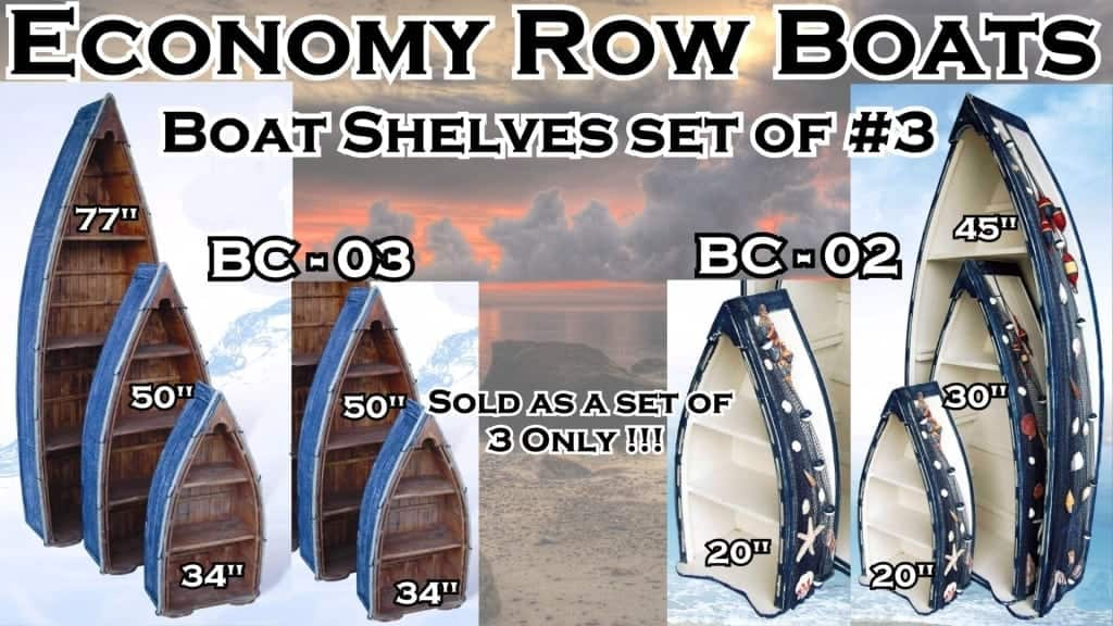 Economy Row Boat Nautical Furniture