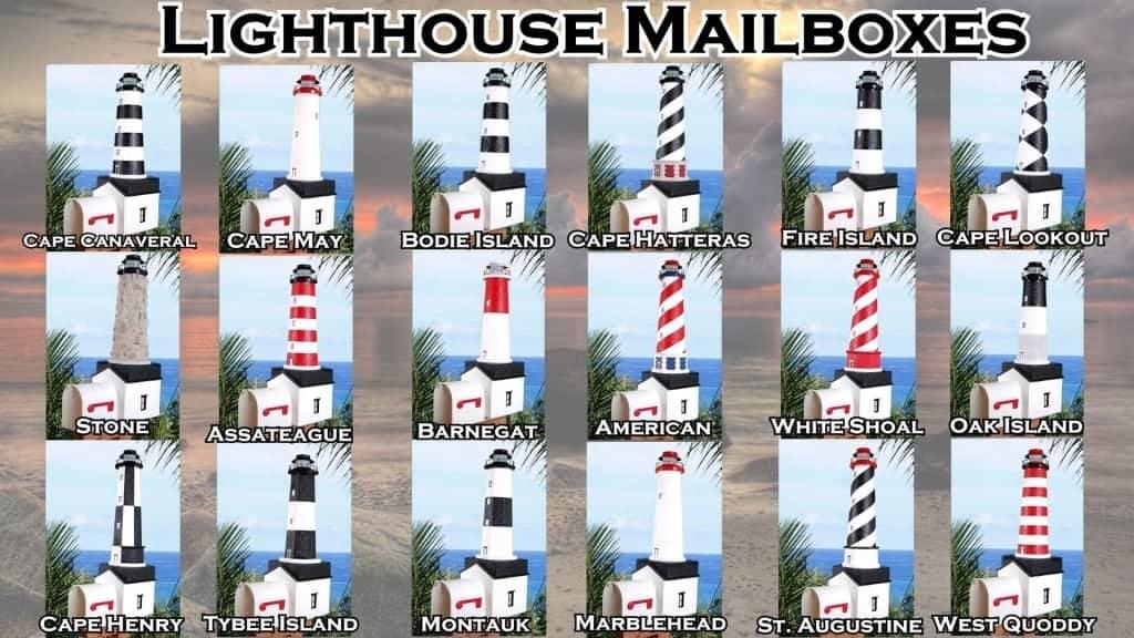 Lighthouse Decor - Lighthouse Mailboxes