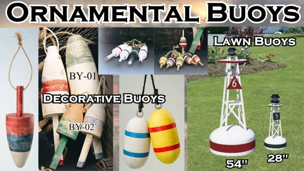 Nautical Decor - Ornamental Buoys