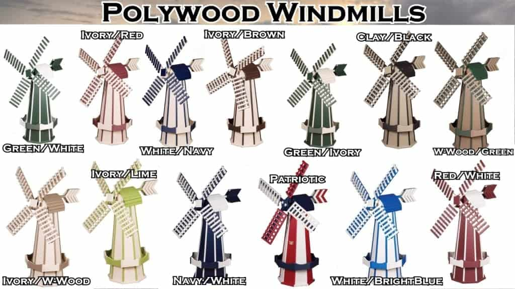 Ornamental Amish Windmill Lawn Ornaments