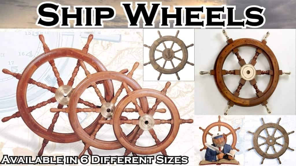 Nautical Decor - Ship Wheels
