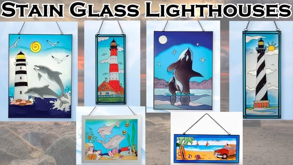 Lighthouse Decor - Stain Glass Lighthouses